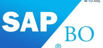 SAP HANA for BO Online Training