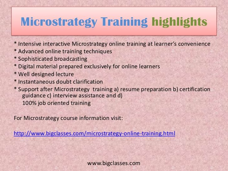 Microstrategy BI Technology | Microstrategy online training