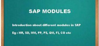 SAP Modules Online Training
