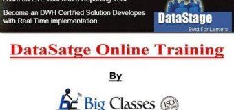 Make Your job prospectus in DataStage