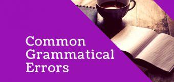 Common Grammatical Errors in English