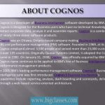 Cognos Online Training | Cognos Online Training in Hyderabad