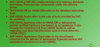 SAP HANA – High Availability and Disaster Recovery