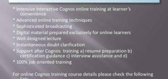 Cognos Report Studio | Cognos Training
