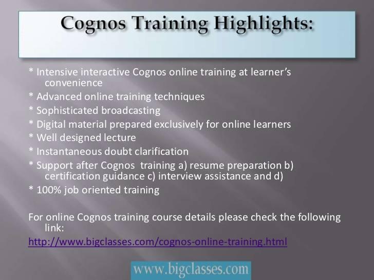 Cognos online Training-bigclasses