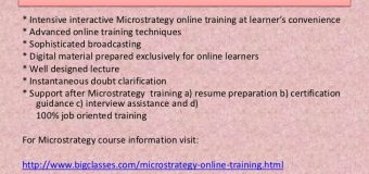 Microstrategy online education