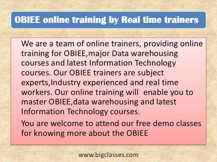 obiee online training-bigclasses