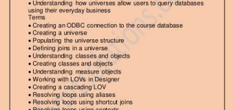 Business Objects Overview   BO Online Course