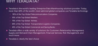 Meet Your Analytical Needs by Using Teradata Concepts