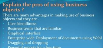 Basics of SAP Business Objects