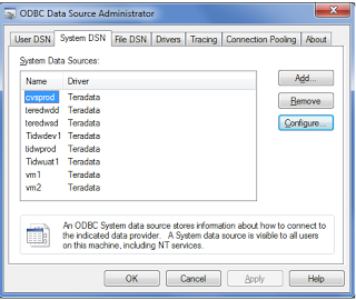 how to connect to teradata database using sql assistant