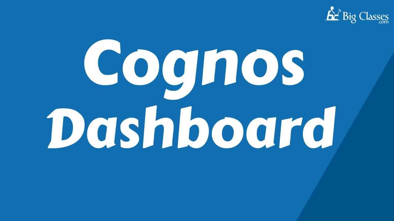 cognos dashboard