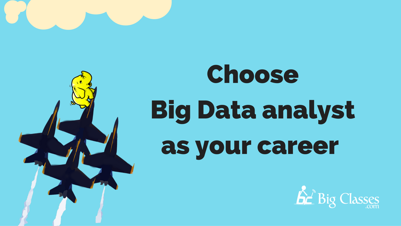 big data analyst as your career