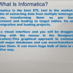 What is Informatica and informatica ETL Tool