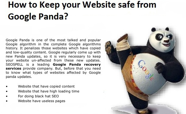To do Website safe from Google Panda-Bigclasses
